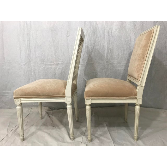Late 19th Century Louis XVI Style Dining Chairs Set of 8 For Sale - Image 5 of 9