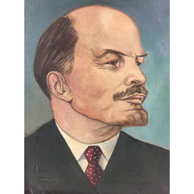 This fabulous portrait of Russian revolutionary and controversial figure Vladimir Lenin dates from the 1950's and is a...