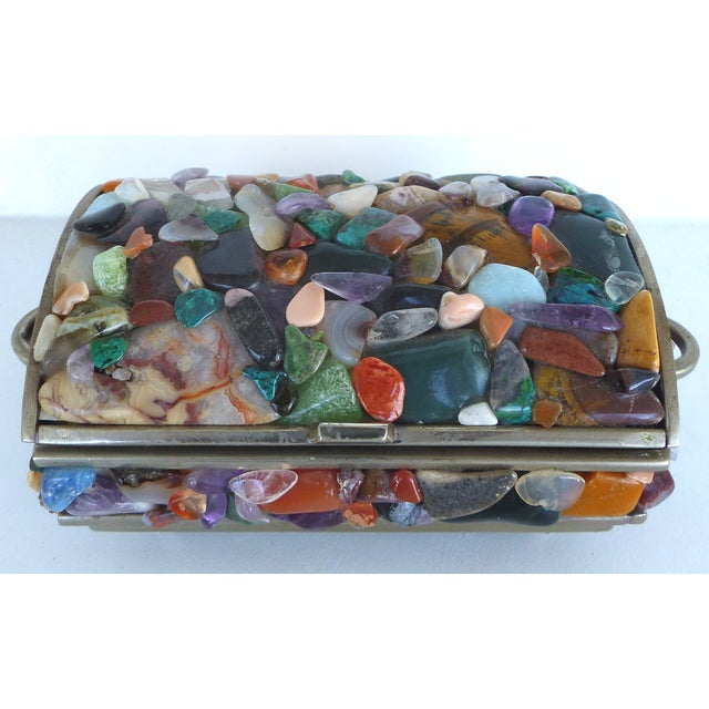 Stone Encrusted Domed Trinket Box - Image 2 of 7