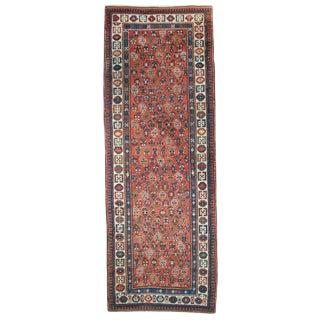 """Antique Ganjeh Carpet Runner - 3'7"""" x 10'3"""" For Sale"""