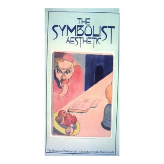 Vintage Museum of Modern Art Symbolist Aesthetic Poster 1980 For Sale