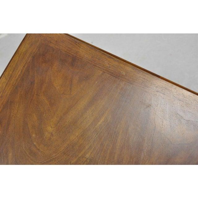 Brown 20th Century Hollywood Regency John Widdicomb Walnut Low Side Table For Sale - Image 8 of 11