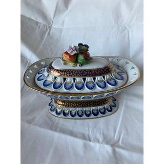 1700's Antique Sevres Gilt Porcelain Covered Dish Preview