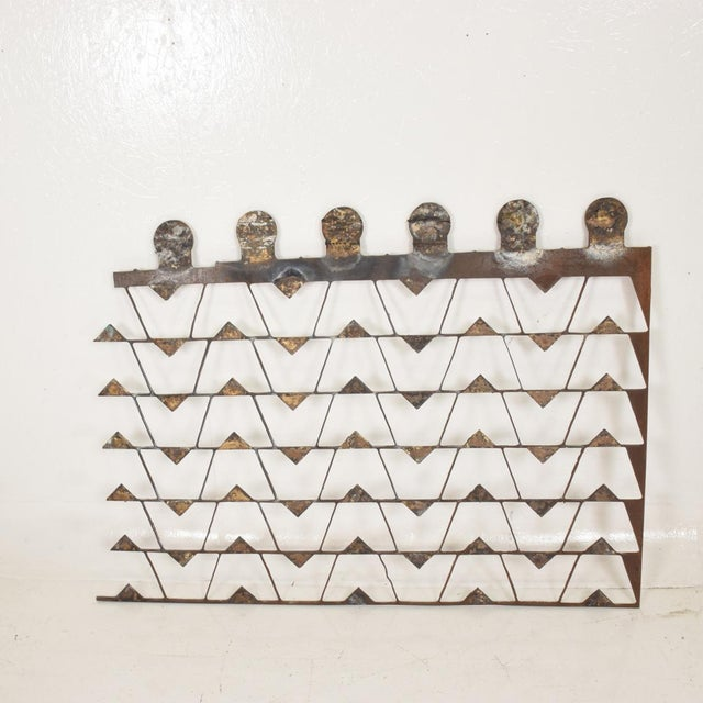 Mexican Modernist Metal Art Room Divider Screen For Sale - Image 9 of 9