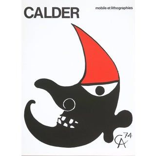 1960s Alexander Calder Poster Lithograph, c.n.a.c, Maeght Publisher For Sale