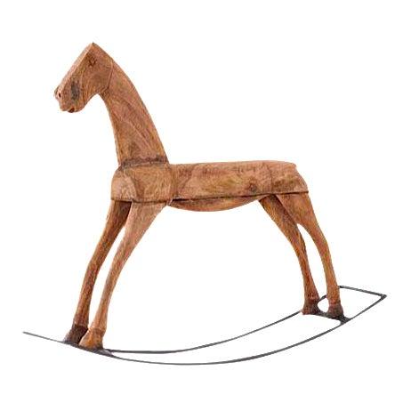 Brown Wood Rocking Horse - Image 1 of 3