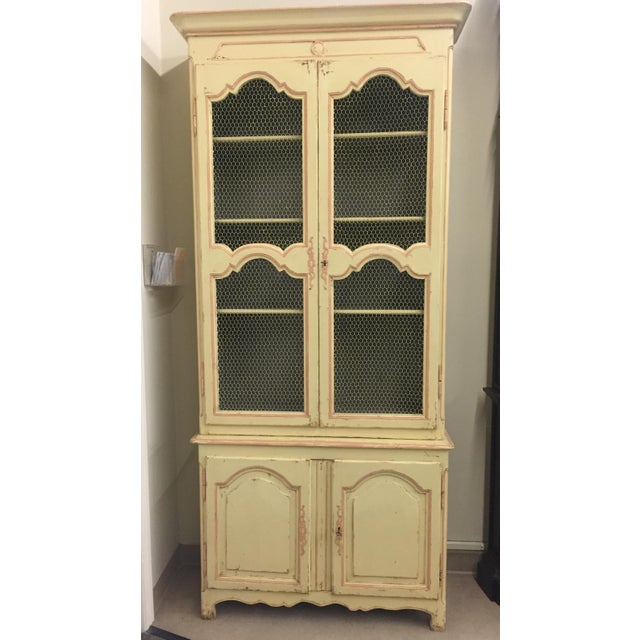 "This is an exact replica of a French ""deux-corps"" (two bodies) antique armoire found at auction. Hand carved from solid..."