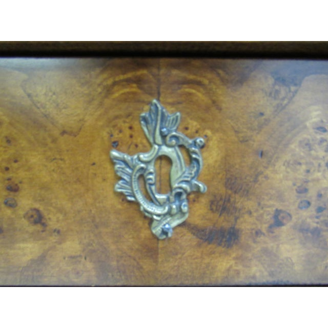 1980s Vintage Custom French Bombay Burl Wood China Cabinet Breakfront Hutch For Sale - Image 10 of 12