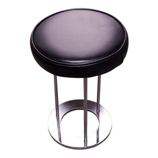 Vintage Chrome Vanity / Low Stool by Paul Mayen for Habitat For Sale
