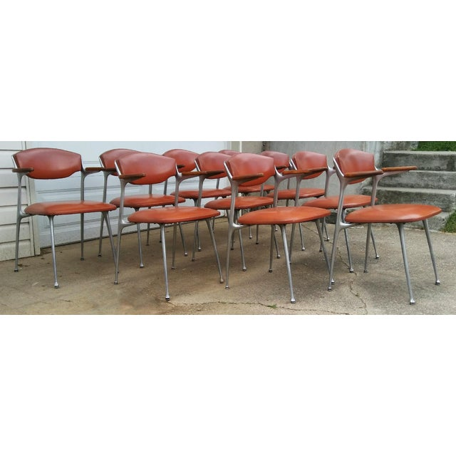 Mid-Century Modern Rare Shelby Williams Gazelle Armchairs, 1950s For Sale - Image 3 of 4