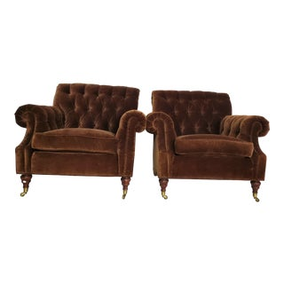Regency Style Club Chairs by Charles Stewart Co. Hickory, Nc - a Pair For Sale