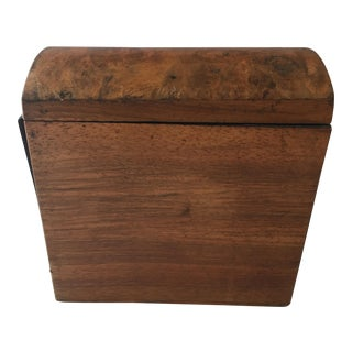 Antique English Walnut Box For Sale