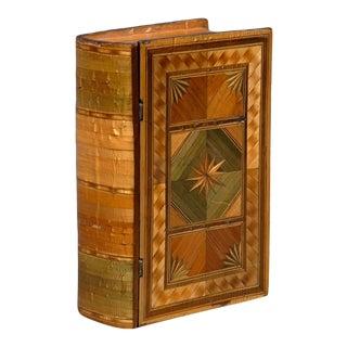 Napoleonic Prisoner of War Straw Work Box For Sale