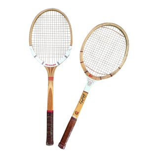 Vintage Wood Tennis Rackets-a Pair For Sale