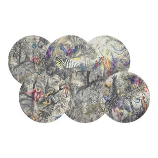 "Arcadia, 16"" Round Pebble Placemats, Set of 6 For Sale"