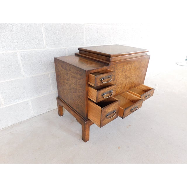 Asian Old Colony Asian Style Silver Chest Server For Sale - Image 3 of 10