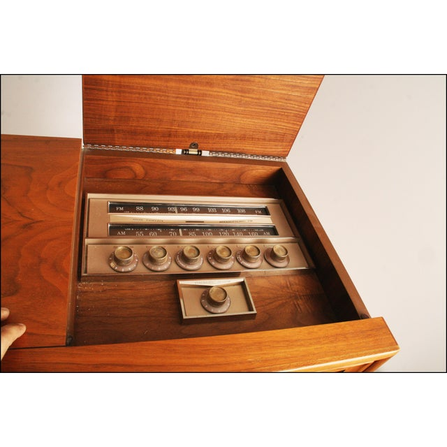 Drexel Mid-Century Modern Record Console Credenza For Sale - Image 7 of 11
