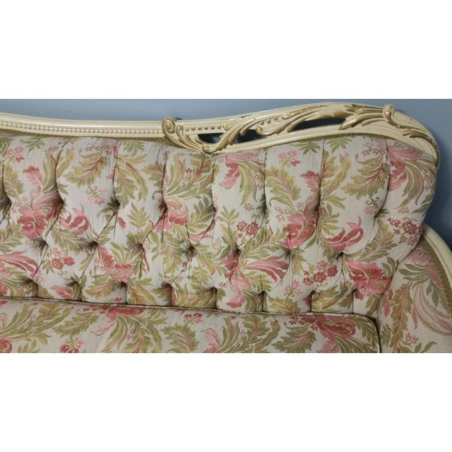 Vintage French Style Tufted Sofa- Corner Available 3 Pcs - Image 7 of 10