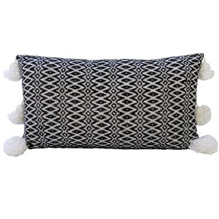 Large Moroccan Woven Cotton Pillow