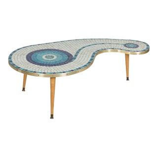 Mid-Century Mosaic Coffee Table