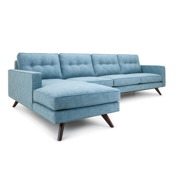 Clad Home Clad Home Mid-Century Style Tufted Sectional For Sale - Image 4 of 4