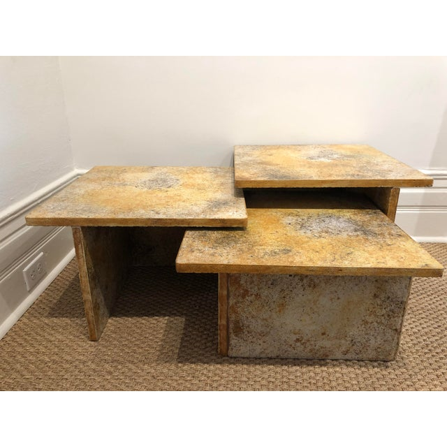Late 20th Century Vintage Nesting Table-Set of 3 For Sale - Image 5 of 5