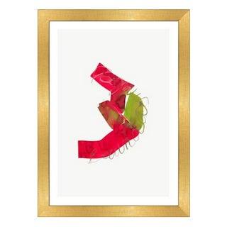 Framed in Gold 'Color Study 22' Watercolor Print on Textured Paper by Encarnacion Portal Rubio For Sale