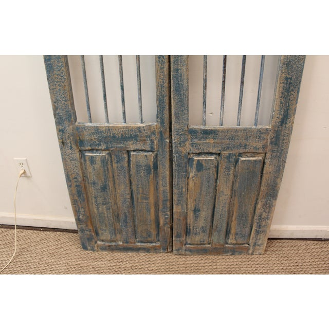 Reclaimed Architectural Wrought Iron Doors - A Pair - Image 5 of 11