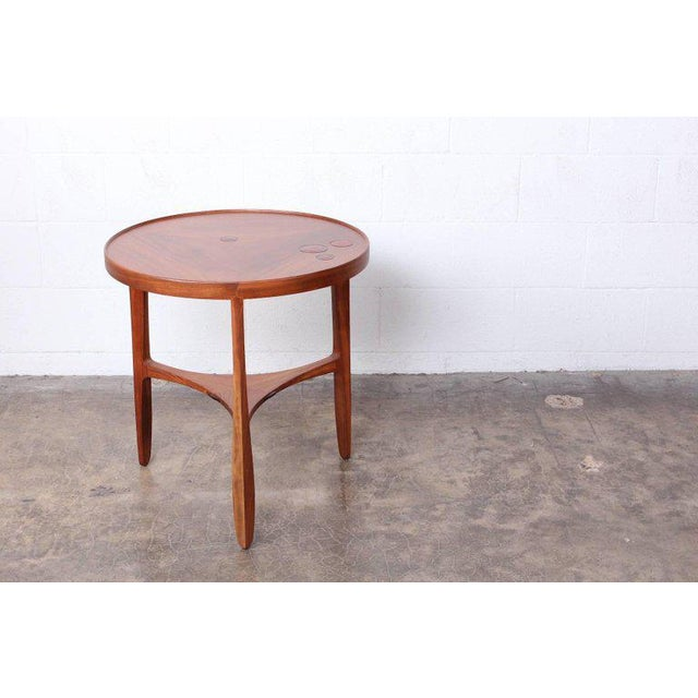 Ceramic Dunbar Janus Table by Edward Wormley With Natzler Tiles For Sale - Image 7 of 12