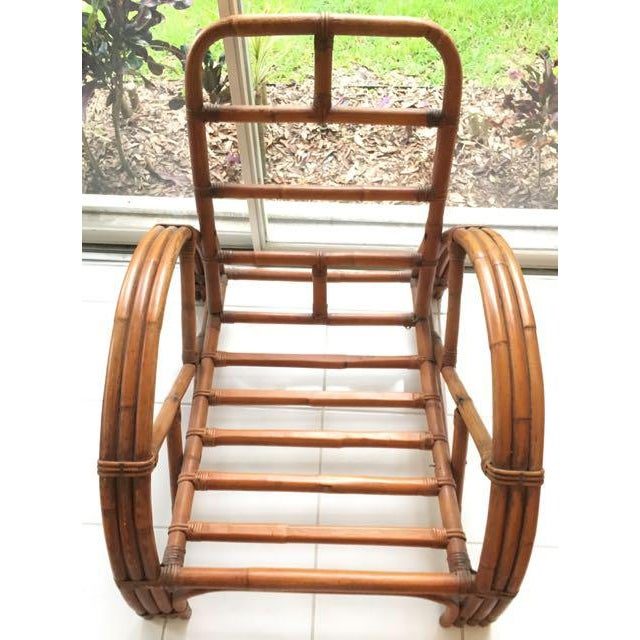 Asian Vintage Mid Century Rattan Set Chairs & Loveseat For Sale - Image 3 of 13