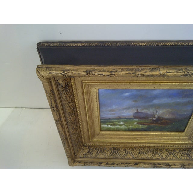 """Original Painting """"The Shipwreck"""", Circa 1840 For Sale In Pittsburgh - Image 6 of 8"""