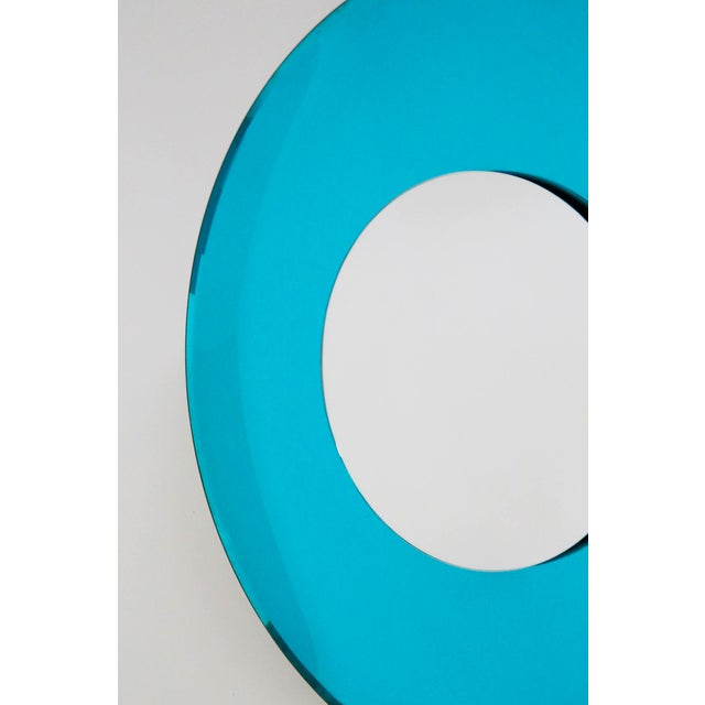 Blue Mirror Blue Contemporary Fashion in Style Fontana Arte by Effetto Vetro, 2010 For Sale - Image 8 of 11