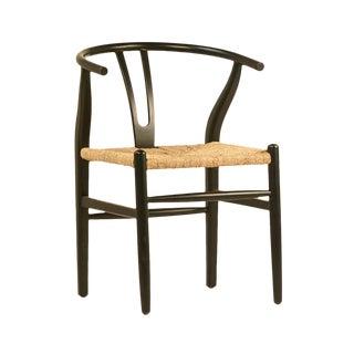 Black Woven Oak Chair For Sale