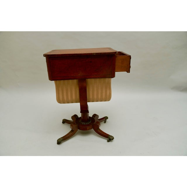 Circa 1820 Regency Amboyna Wood Worktable For Sale - Image 4 of 11