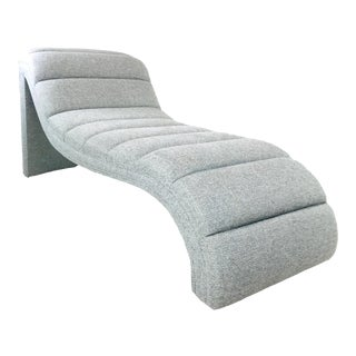 Custom Chaise Lounge in the Style of Kagan For Sale