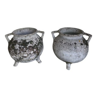 1970s Vintage Concrete Urns - A Pair For Sale