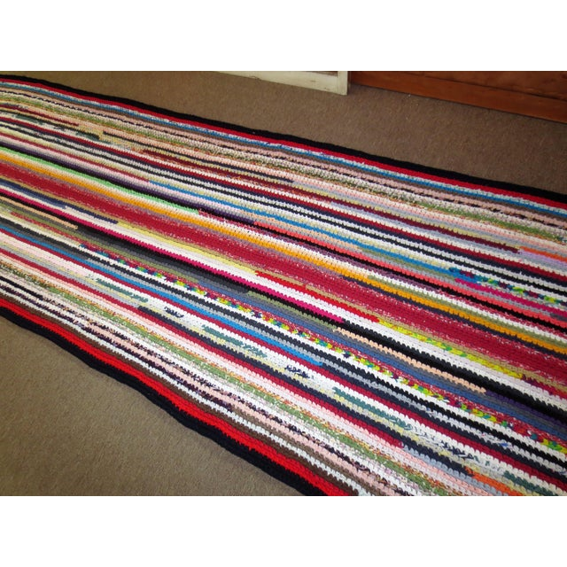 Modern Braided Rag Rug- 4′ × 20′6″ For Sale - Image 4 of 13