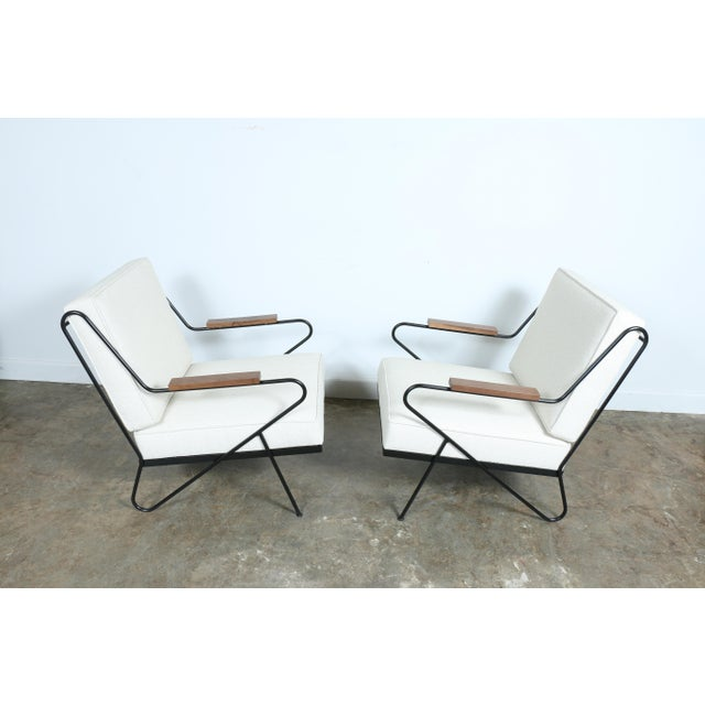 Wrought Iron Modern Chairs - A Pair - Image 8 of 9