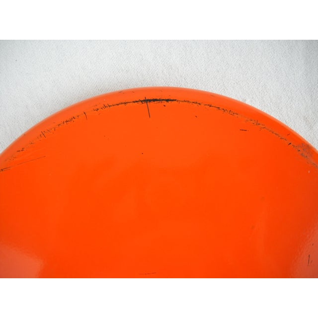 Plastic Op Art Yellow Orange Serving Tray For Sale - Image 7 of 9