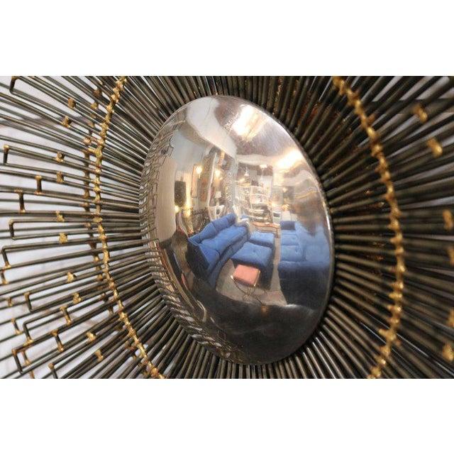 1960s Metal Sunburst Wall Art Mirror - Image 4 of 4