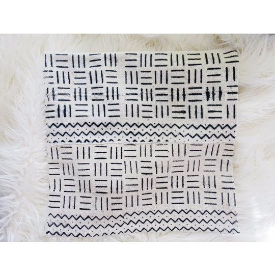 "African Mudcloth Pillow Cover 18"" X 18"" - Image 2 of 3"