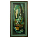 Image of Colorful Jean Devaud Abstract Painting For Sale