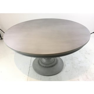 Ave Home French Country Style Gray Pedestal Dining Table Preview