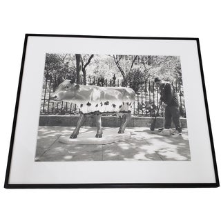 """Leo Theinert (American) """"Clean Sweep"""" Original Black and White Silver Gelatin Photograph, 20th C. For Sale"""