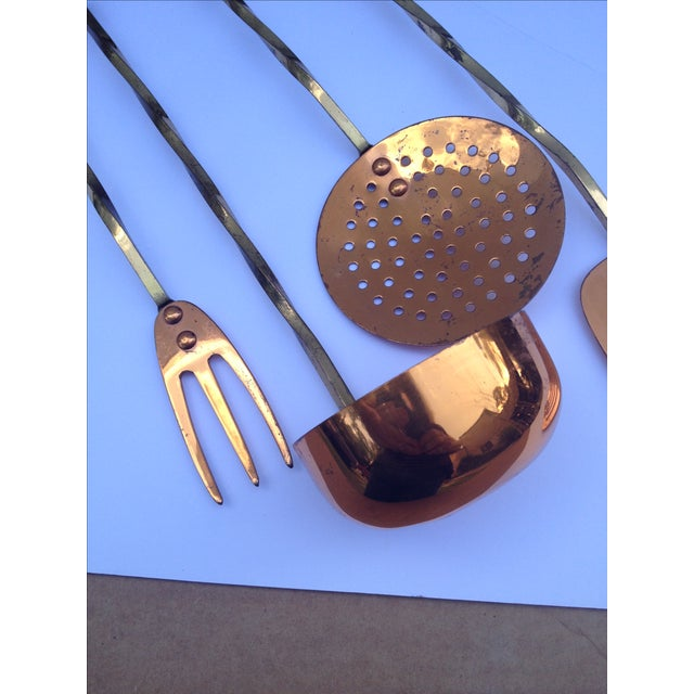 Brass & Copper Kitchen Utility Tools - Set of 4 - Image 3 of 5