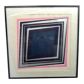 Modernist Graphic Print, Richard Lacroix 1970 For Sale