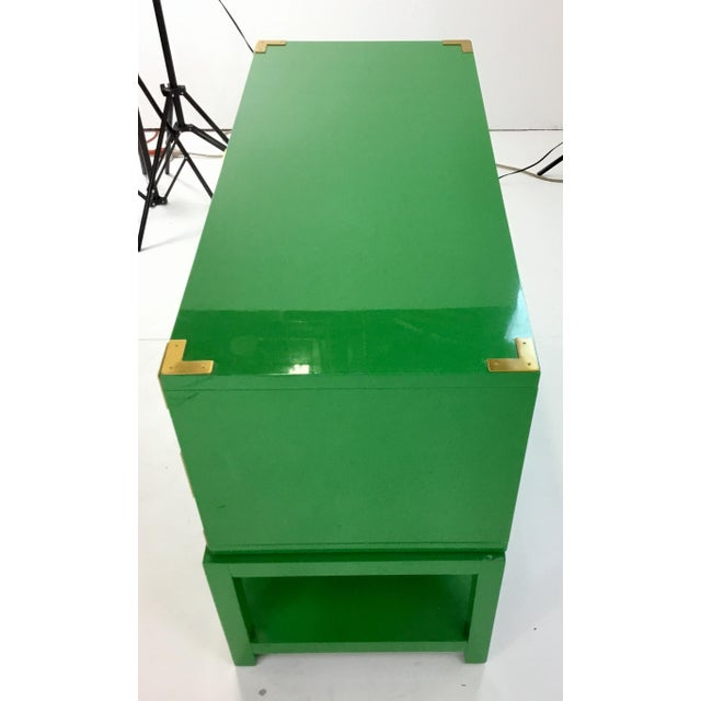 Contemporary Bungalow 5 Green Lacquer Tansu Console Chest For Sale - Image 3 of 8