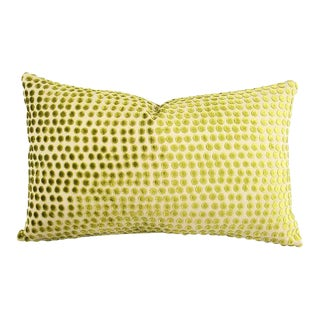 """Pierre Frey Dora in Anis Lumbar Pillow Cover - 12"""" X 19.5"""" For Sale"""