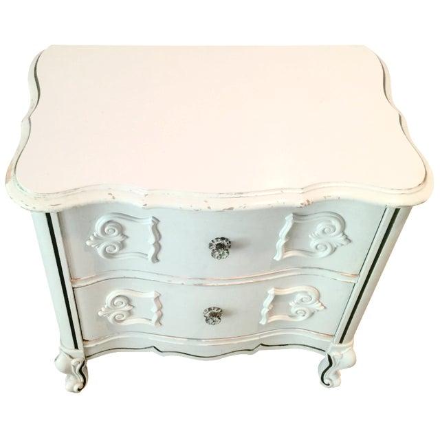 Ivory 2-Drawer Bedside Table - Image 1 of 8