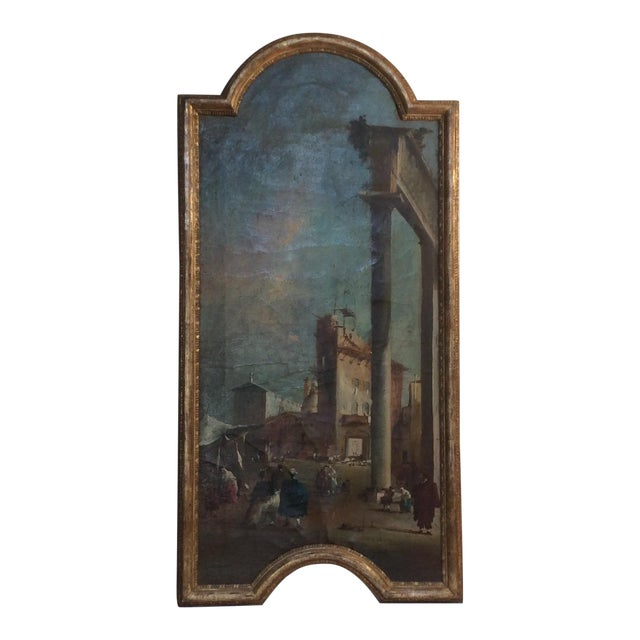 18th Century Italian Guardi Style Painting For Sale